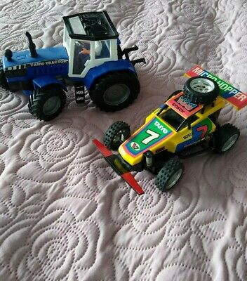 Push Along Tractor And Stock Car • 2.35£