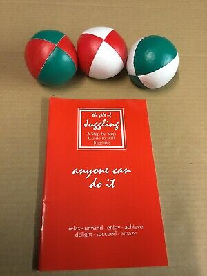 Xmas Stocking Filler, Juggling Ball Set, Xmas Colours, Special Offer Price • 9.95£
