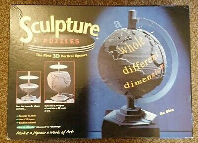 1995 VIntage MB 3D Sculpture Puzzle - THE GLOBE - Checked & Complete • 7.99£