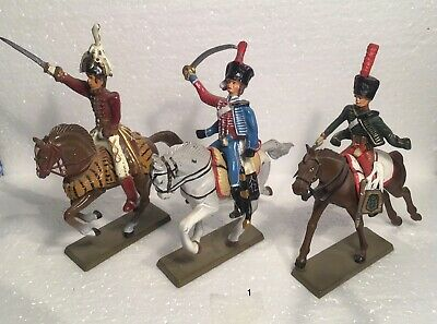 3 X Antique Lead French Mounted Soldiers (Group 1) • 9£