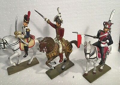 3 X Antique Lead French Mounted Soldiers (Group 2) • 9£