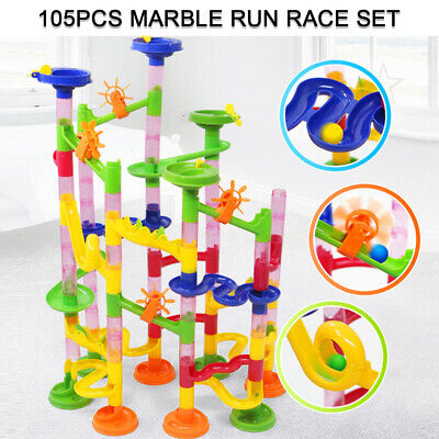 105pc Marble Run Race Set Construction Building Blocks Kids Toy Game Track Gift • 6.59£