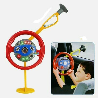 Electronic Backseat Driver Toy Car Seat Steering Wheel Toy Game Light And Sound • 7£