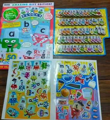 🌟Cbeebies Alphablocks Magazine Includes Letters & Stickers • 13.95£