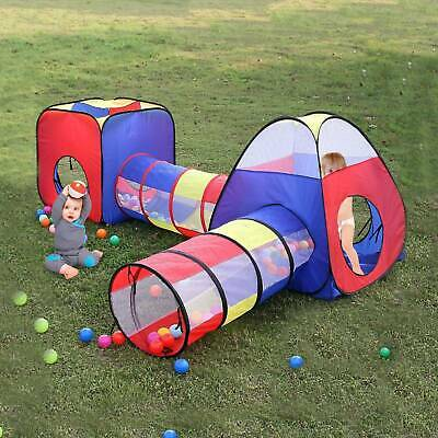 Portable 4 In 1 Childrens Kids Baby Play Tent Tunnel Ball Pit Playhouse Pop Up • 20.99£