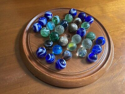 Antique Solitaire Board And Marbles • 9.99£