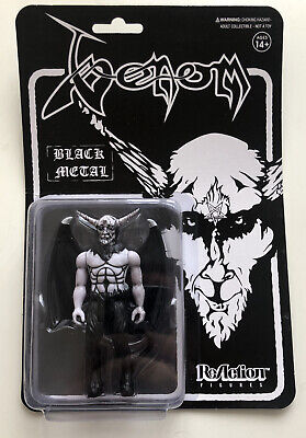 Super7 ReAction Figure Venom Black Metal MOC • 23.99£