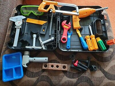 Collection Of Play Tools In Carry Case, Role Play, Builder, Construction Toys • 5£