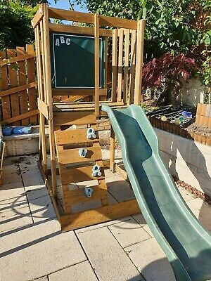 Wooden Climbing Frame With Slide • 65£