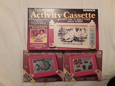 Vintage 1981&1982 Berwick Etch-a- Sketch Activity Cassette With 2 Action... • 20£