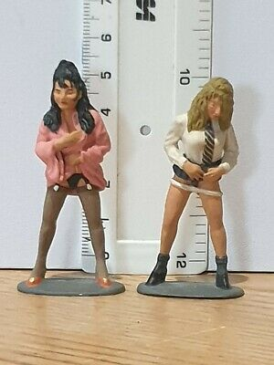 SAUCY LADIES X 2;  54mm;  DIECAST FIGURES, UNKNOWN MAKER;  EXCELLENT CONDITION. • 9.99£