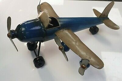 Vintage Antique Metal Tin Plate Model Areoplane  • 20£