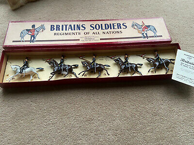 Britains 2076 Regiments Range, Rare 5 Piece Mounted 12th Lancers + Original Box • 60£