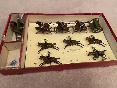 BRITAINS Soldiers - Royal Horse Artillery + Gun & Escort (ref No 39) Vintage Set • 129£