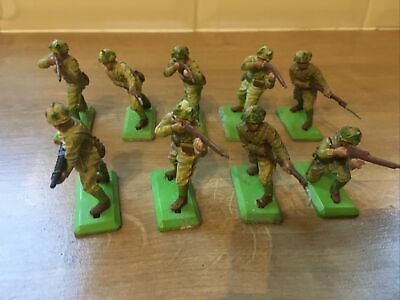 Britains Deetail Japanese Infantry Stained 1st Edition X 9 Joblot • 13£