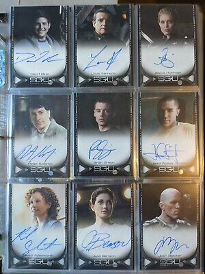 Stargate Universe - Season 1 Trading Cards - Personally Signed • 15.99£