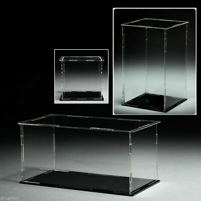 Acrylic Plastic Display Case Box Dustproof Self-Assembly Various Sizes Diecast • 20.58£