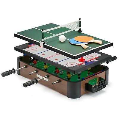 20'' Powerplay 3 In 1 Top Games Mini Football Hockey And Table Tennis • 23.95£
