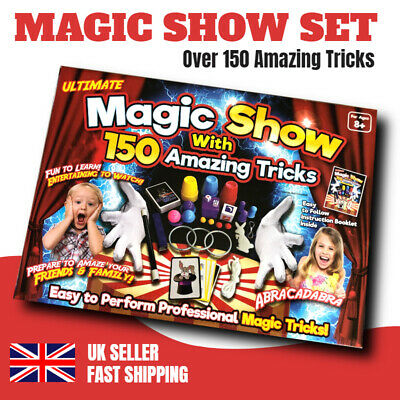 Ultimate Magic Show Set Box 150 Amazing Magic Tricks Kids Childrens Magician Toy • 10.99£
