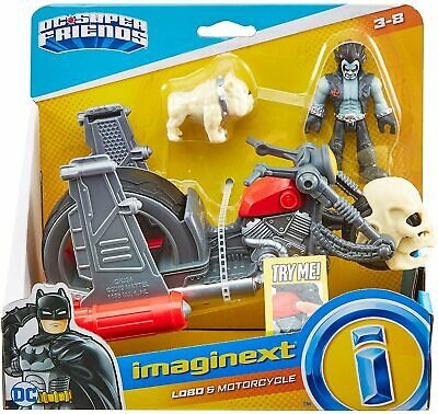 Imaginext GKJ24 DC Super Friends Lobo & Motorcycle Toy, Figure And Vehicle Set • 13.65£