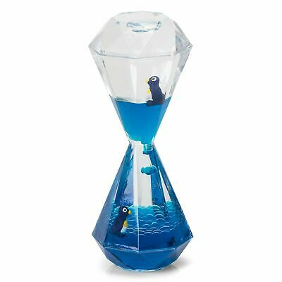 Penguin Desk Toy Liquid Filled Hour Glass Gadget Novelty Gift Adults Childs • 7.49£