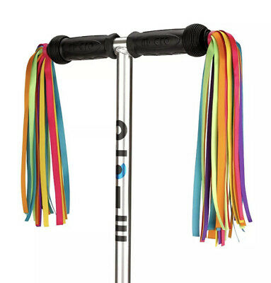 Micro Scooter Ribbons - Rainbow Coloured. NEW And Genuine. Tassles, Streamers • 16.95£