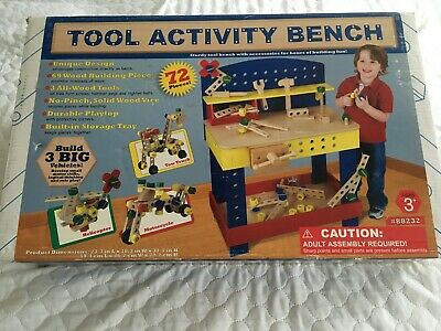 Wooden Tool Activity Bench For 3 Years Old Plus • 35£