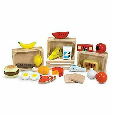 Melissa & Doug Food Groups - Pretend Play, 21 Hand-Painted Wooden Assorted • 16.89£
