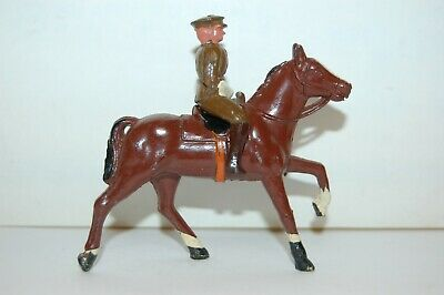 Rare Vintage Crescent Lead Mounted British Officer                      Britains • 14.99£