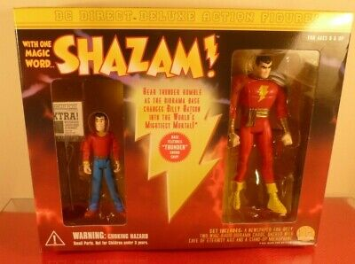 2000 Shazam Captain Marvel & Billy Batson Action Figure Diarama Set: New In Box • 29.99£