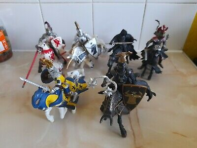 Papo Toys Medieval Knights On Horseback × 6 • 20£