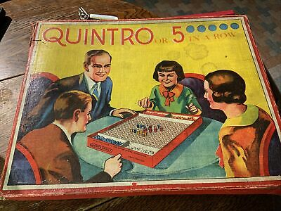 Quintro. 1930's Vintage Boxed Game  - Spear's Games • 5£