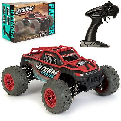 Large Remote Control RC Big Wheel Toy Car 36kmh Monster Truck 2.4GHz 7V 1:14 • 34.99£