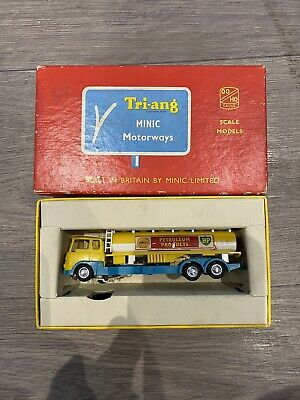 Triang Minic Motorway Tanker Shell Oil Car Boxed Rare Vintage • 90£