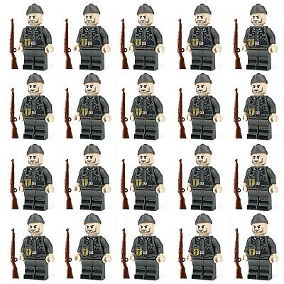 WWII GERMAN Soldiers + Weapons Mini Figures WW2 Military War Set Fit Lego • 22.99£