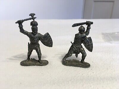 Sir Galahad + Sir Percival -lone Star-silver Metal Knights Of The Round Table • 10£