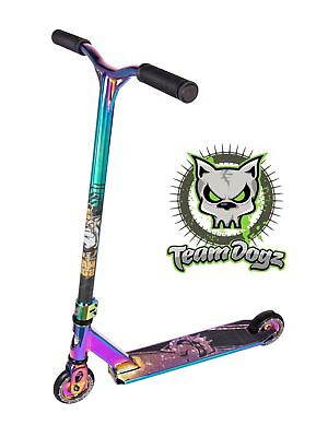 Team Dogz Pro X 2020 / 21 Rainbow Push Stunt Scooter Neo Chrome Petrol Oil Slick • 139.99£