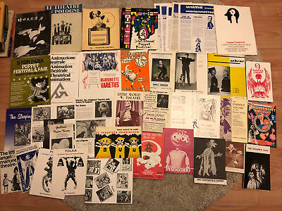 Vintage Puppets Puppetry Festivals Programmes Leaflets Marionettes Theatre Show • 10£