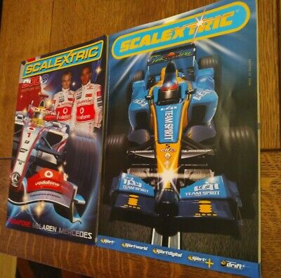 Scalextric Electronic Model Racing Catalogues 50th Edition 2009 & 47th 2006 • 6.50£