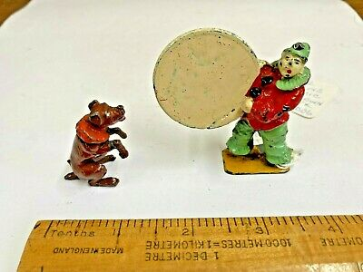 Rare Charbens Lead Circus Clown With Hoop And Performing Dog • 79.99£