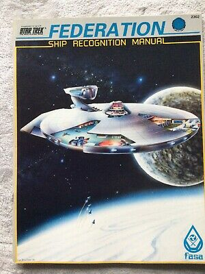 FASA. Star Trek Role Playing Game. Federation Ship Recognition Manual • 9.99£