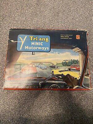 Vintage Triang Minic Motorway Set Rare Plus Cars And Controllers • 100£
