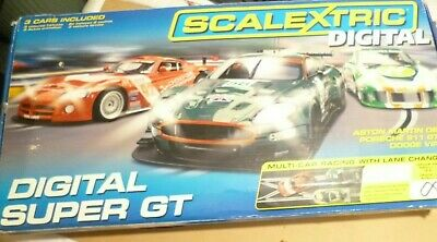 Scalextric Digital Super GT Track Set With 4 Cars + Extra Track • 49.99£