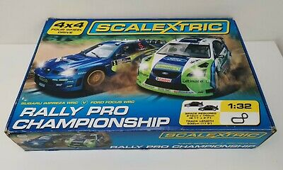 Scalextric Rally Pro Championship 4x4 Wheel Drive Ford Vs Peugeot AWD Slot Car  • 75£