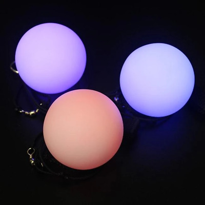 Poi LED Balls X 2 Festival Party Cosplay Glowing Colour Changing Flashing Balls • 7.99£