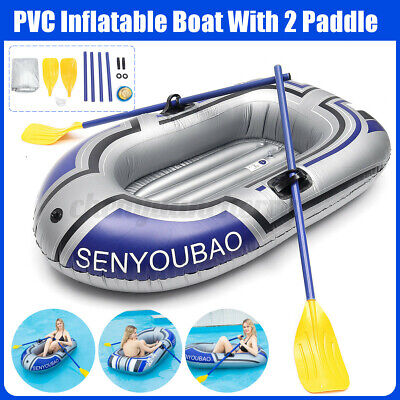 Adult Kids PVC Inflatable Boat Summer Garden Swimming Pool Beach Dinghy  • 42.67£