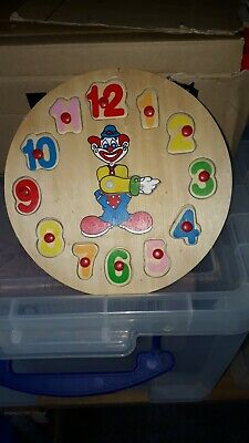 Kiddies Clock Number Puzzle • 4£