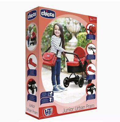 Brand New Toy Chicco Junior Urban Pram With Accessories Doll/Toddler Play Pram • 29.99£