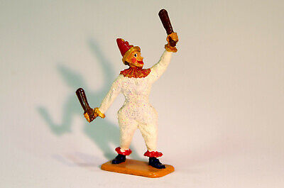 Cast Metal Figure After Crescent Toys Circus Clown With Clubs, Possible Re-cast. • 18£
