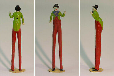 Collectors' Metal Figure Of A Stilt Walker Clown After Charbens, Unknown Maker. • 8.50£